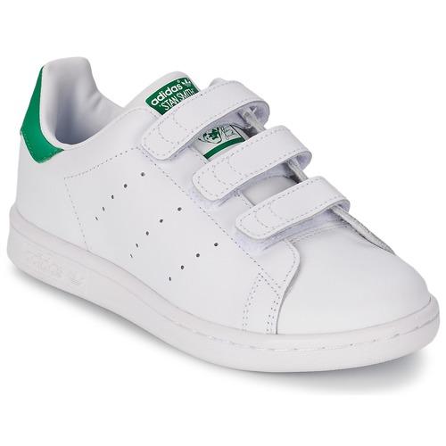 adidas Originals Barn Skor Stan Smith CF WhiteWhiteWhite