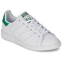 Skor Barn Sneakers adidas Originals STAN SMITH J Vit / Grön