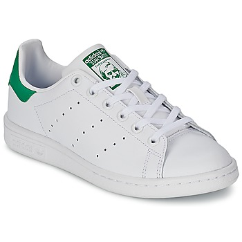 Skor Barn Sneakers adidas Originals STAN SMITH J Vit / Grön