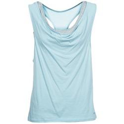 textil Dam Linnen / Ärmlösa T-shirts Bench SKINNIE Blå