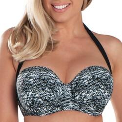 textil Dam Bikinibyxa / Bikini-bh Curvy Kate CS4941 BLK/WHI Svart