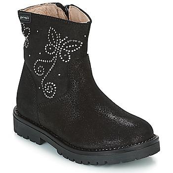 Skor Flickor Boots Garvalin COSMOPOLITAN SERRAJE Svart / Silverfärgad