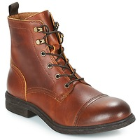 Skor Herr Boots Selected TERREL LEATHER BOOT Cognac