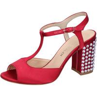 Skor Dam Sandaler Lella Baldi sandali rosso raso strass AH826 Rosso
