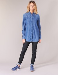 textil Dam Skinny Jeans G-Star Raw LYNN MID SKINNY Blå / Mörk