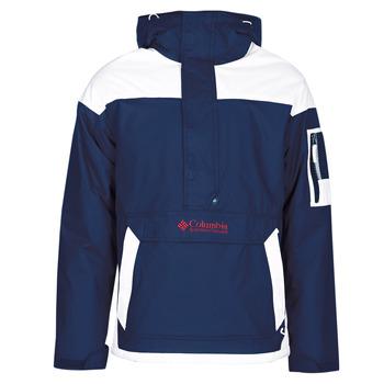textil Herr Vindjackor Columbia CHALLENGER PULLOVER Marin / Vit