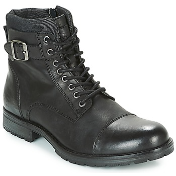 Skor Herr Boots Jack & Jones ALBANY LEATHER Svart
