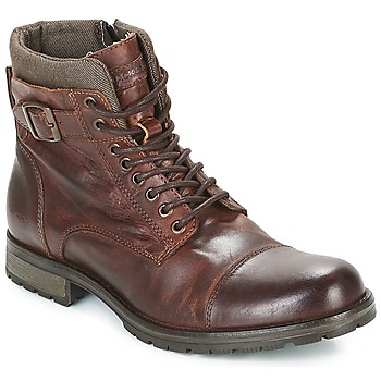 Skor Herr Boots Jack & Jones ALBANY LEATHER Brun
