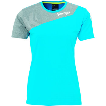 textil Dam T-shirts Kempa Maillot femme  Core 2.0 bleu flash/gris