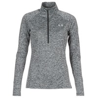 textil Dam Långärmade T-shirts Under Armour TECH 1/2 ZIP TWIST Svart