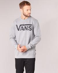 textil Herr Sweatshirts Vans VANS CLASSIC CREW Grå