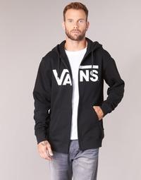 textil Herr Sweatshirts Vans VANS CLASSIC ZIP HOODIE Svart