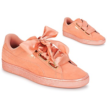 Skor Dam Sneakers Puma WN SUEDE HEART SATIN.DUSTY Orange