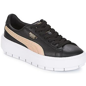 Skor Dam Sneakers Puma WN PLATFORM TRACE BSQT.BLK Svart