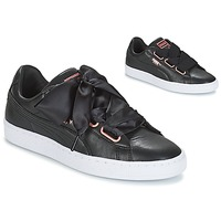 Skor Dam Sneakers Puma WN SUEDE HEART LEATHER.BLA Svart