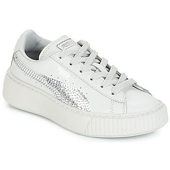 Skor Flickor Sneakers Puma G PS B PLATFORM BLING.GRAY Grå