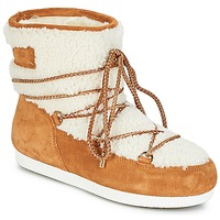 Skor Dam Vinterstövlar Moon Boot FAR SIDE LOW SHEARLING Cognac / Vit