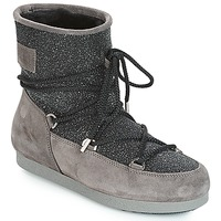 Skor Dam Vinterstövlar Moon Boot FAR SIDE LOW SUEDE GLITTER Svart / Grå