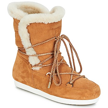 Skor Dam Vinterstövlar Moon Boot FAR SIDE HIGH SHEARLING Cognac / Vit