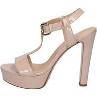 Skor Dam Sandaler Mi Amor sandali rosa cipria vernice BY169 Rosa
