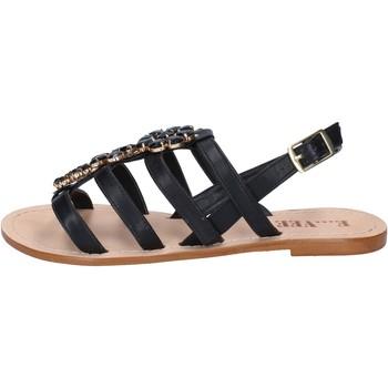 Skor Dam Sandaler E...vee sandali nero pelle BY184 Nero