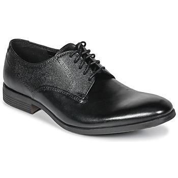 Skor Herr Snörskor Clarks GILMORE Svart / Leather