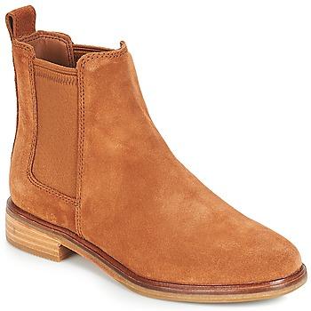 Skor Dam Boots Clarks CLARKDALE Kamel