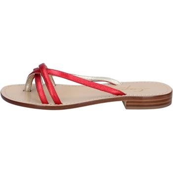 Skor Dam Sandaler Soleae sandali rosso pelle BY501 Rosso