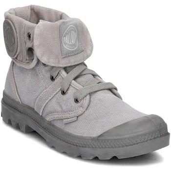 Skor Dam Höga sneakers Palladium Manufacture Pallabrouse Baggy Gråa