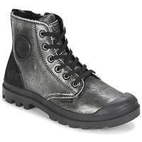 Skor Dam Boots Palladium PAMPA HI Svart / Silver