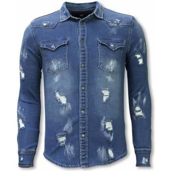 textil Herr Långärmade skjortor True Rise Iga Kläder DCB Blå
