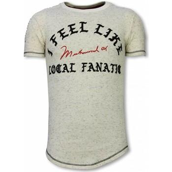 textil Herr T-shirts Local Fanatic I Feel Like Muhammad Longfit LFB Beige