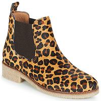 Skor Dam Boots Bensimon BOOTS CREPE Leopard