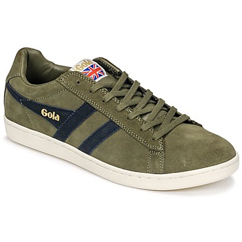 Skor Herr Sneakers Gola Equipe Suede Kaki / Marin