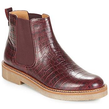 Skor Dam Boots Kickers OXFORDCHIC Bordeaux