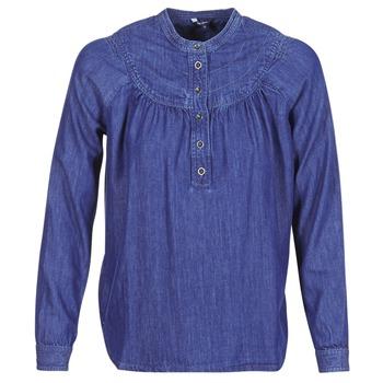 textil Dam Blusar Pepe jeans ALICIA Blå