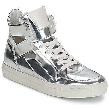 Skor Dam Höga sneakers Kennel + Schmenger TONIA Silverfärgad