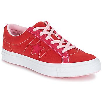 Skor Dam Sneakers Converse ONE STAR OX Röd / Rosa