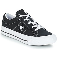 Skor Barn Sneakers Converse ONE STAR OX Svart / Vit