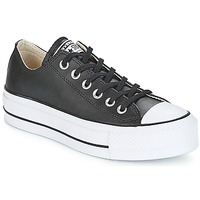 Skor Dam Sneakers Converse CHUCK TAYLOR ALL STAR LIFT CLEAN OX Svart / Vit
