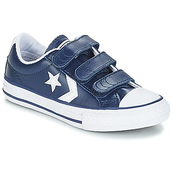 Skor Barn Sneakers Converse STAR PLAYER EV V OX Navy / Vit