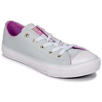 Skor Flickor Höga sneakers Converse CHUCK TAYLOR ALL STAR HI Platinum / Fuchsia / Vit
