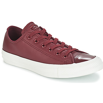 Skor Dam Sneakers Converse CHUCK TAYLOR ALL STAR LEATHER OX Bordeaux