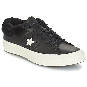 Skor Dam Sneakers Converse ONE STAR LEATHER OX Svart