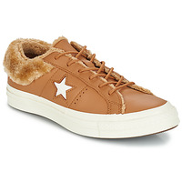 Skor Dam Sneakers Converse ONE STAR LEATHER OX Kamel