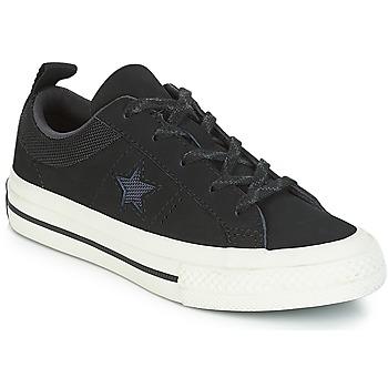 Skor Barn Sneakers Converse ONE STAR NUBUCK OX Svart / Vit