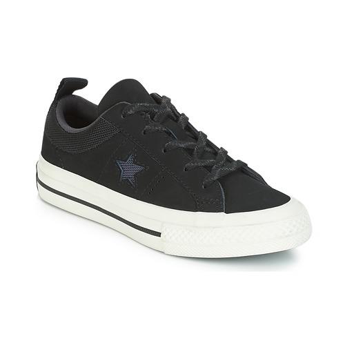 8ea8fe7ad30 Converse ONE STAR NUBUCK OX Svart / Vit - Fri frakt | Spartoo.se ...