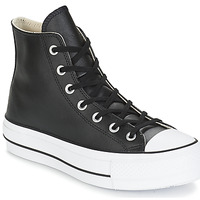 Skor Dam Höga sneakers Converse CHUCK TAYLOR ALL STAR LIFT CLEAN LEATHER HI Svart