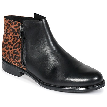 Skor Dam Boots Betty London JINANE Svart / Brun