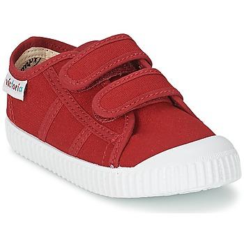 Skor Barn Sneakers Victoria BLUCHER LONA DOS VELCROS Karminröd